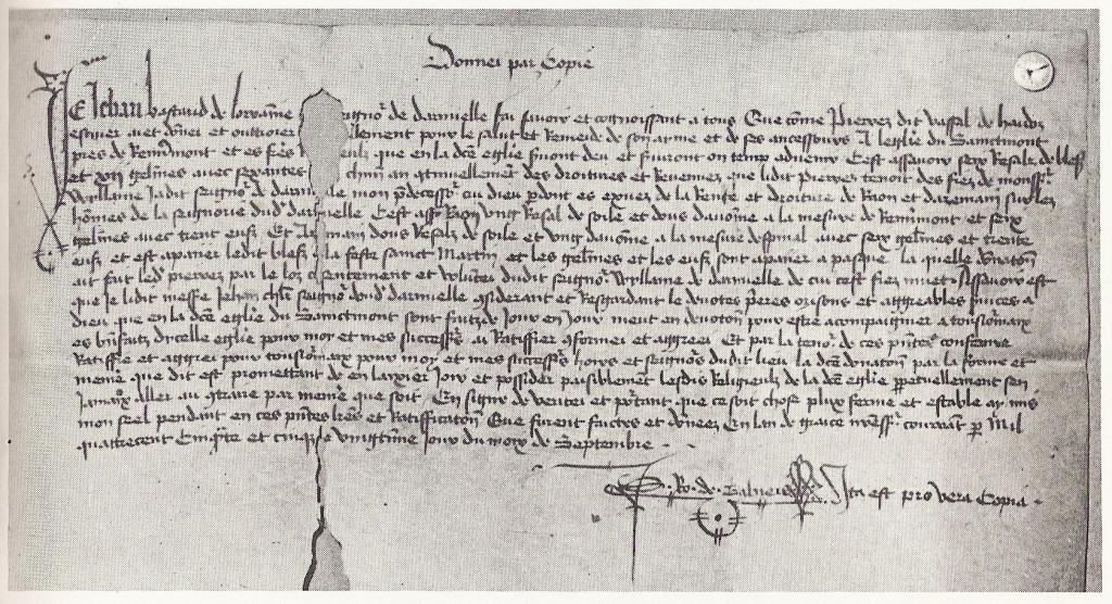 Acte 20 septembre 1455