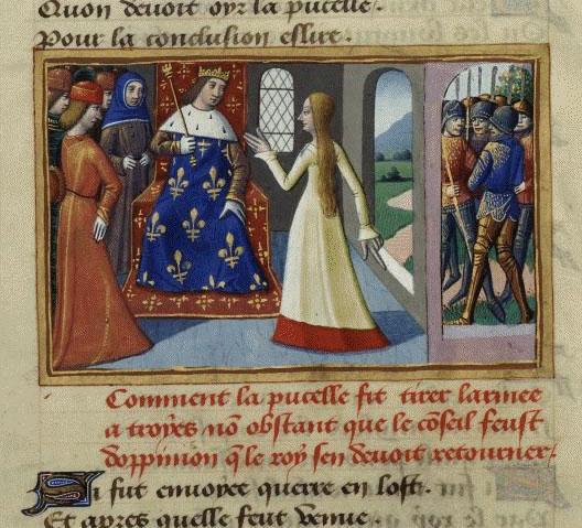 Visite de Jeanne à Chinon
