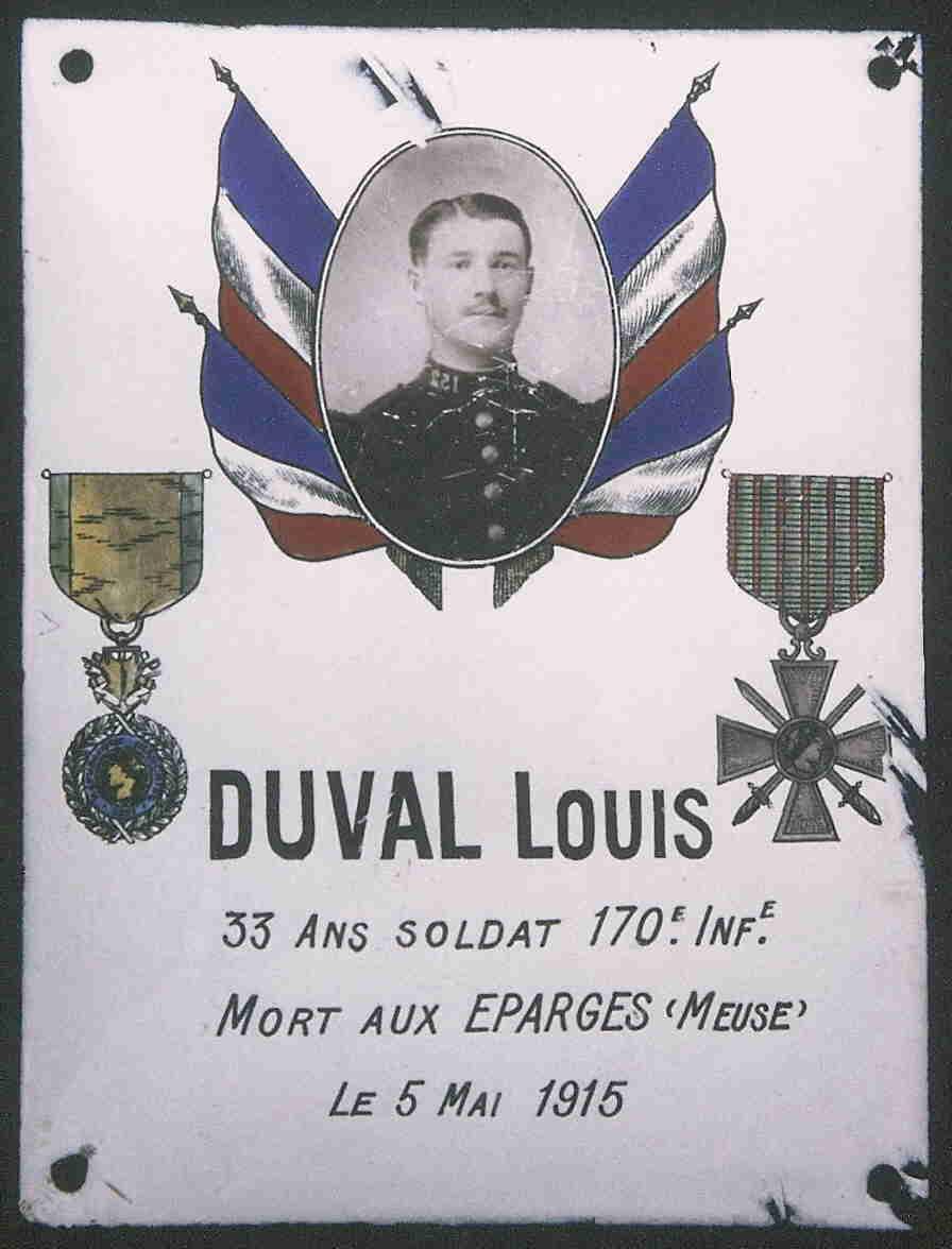 Plaque Louis Duval