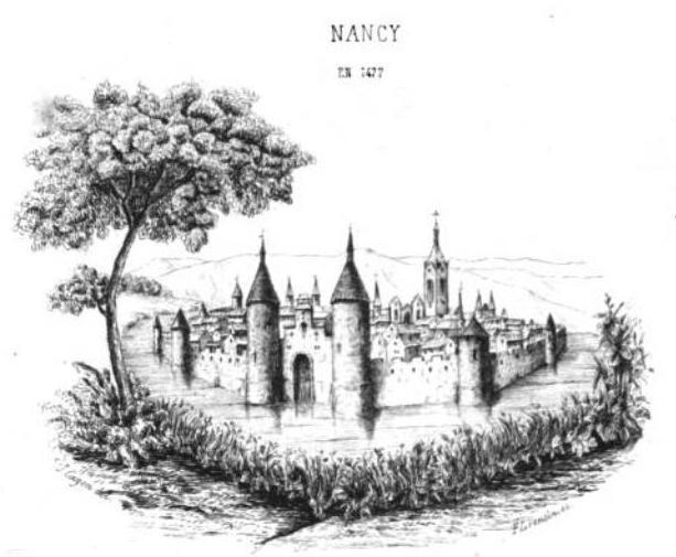 Vue de Nancy en 1477