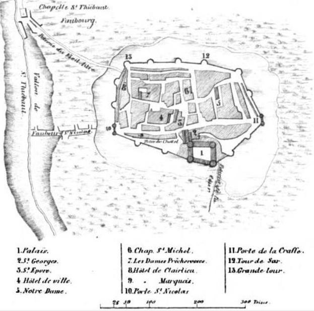 Plan de Nancy en 1477