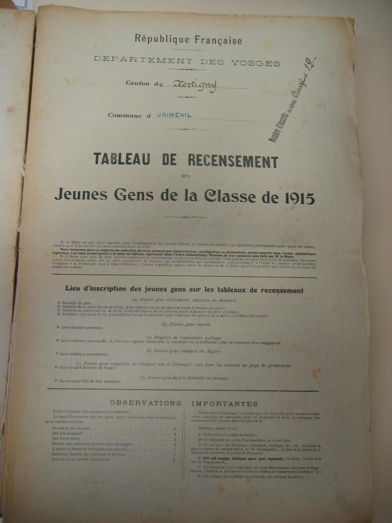 Recensement 1915